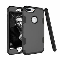 Slim Hybrid Hard PC Armor Silicone Shockproof Case Cover For iPhone 6 6s 7 Plus