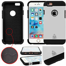 Genuine Gorilla Strong Armour Case Slim Protective Cover Tough Tempered Glass Apple iPhone 5c Silver