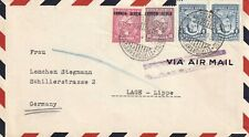8385-COLOMBIA, BUSTA CORREO AEREO PER LAGE-LIPPE GERMANY, COPPIA 4+10+20 c.,1932