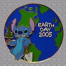 Stitch Earth Day Jumbo Pin 2005 - Disney Auctions Pin LE 100