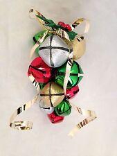 "Multicolor Multi-size 9"" Jingle Bell Grape Design Metal Christmas Decoration"