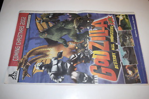 Godzilla Destroy All Monsters Melee 2002 Nintendo GameCube Video Game Promo