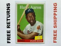 2019 Topps Archives Base Card #78 Hank Aaron Atlanta Braves MLB HOF