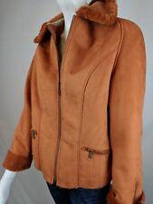 TSUNAMI WOMENS BOUTIQUE FAUX SUEDE / FAUX FUR CORAL Winter Jacket Coat SZ M