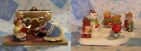 Hallmark Christmas 1993 Bearingers Complete Set 2002 Holiday Hill Complete Set