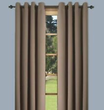 "Ultimate Blackout Solid Color Grommet Single Curtain Panel - Sand 56""W x 63""L"