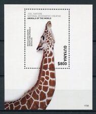 Guyana 2017 MNH Wild Animals of World 1v S/S Giraffes Stamps