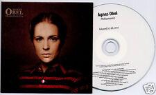 AGNES OBEL Philharmonics 2010 UK 12-trk promo test CD card sleeve