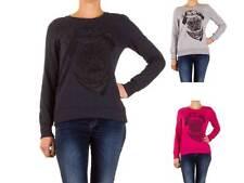 Markenlose hüftlange Damen-Pullover & -Strickware aus Baumwolle