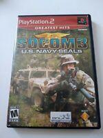 SOCOM 3 U.S. NAVY SEALS       SONY PLAYSTATION  2   complete