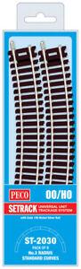 PECO OO Bulk Setrack Pack No: ST-2030.  8 x ST-230 3rd Radius Standard curves.