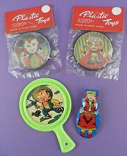 Vaquero/Salvaje Oeste Toys-Clicker, Destreza Juegos, Espejo-Vintage stock sin usar