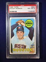 1969 Topps Dooley Womack #594 PSA 8 Houston Astros