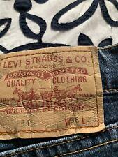 Levis 571 Blue Mens Straight Jeans size W36 L30