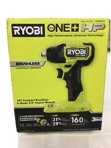 New Ryobi PSBIW01B  Brushless 18V 3/8 inch Impact Wrench(TOOL ONLY)