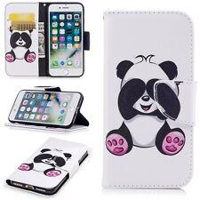 Lesser panda wallet Flip Leather case Cover fr Samsung S8 S8 Plus iphone 7 7Plus