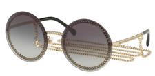 Chanel Damen Sonnenbrille CH4245 c.395/S6  58mm  gold rund  LN164699