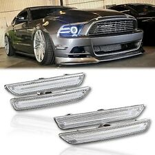 2010 - 2014 Ford Mustang Front Rear Side LED Clear Marker Lights Diode Dynamics