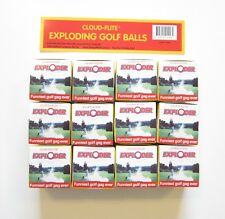 12 NEW EXPLODING GOLF BALLS EXPLODES IN A CLOUD OF SMOKE GAG GIFT PRANK