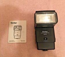 Vivitar Zoom Thyristor 5200 Electronic Flash Unit & Instructions - Canon Module