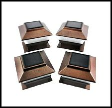 6 Copper 4 X 4 Outdoor Garden Solar Post Deck Cap Square Fence Lights