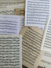 15 schöne alte Notenblätter zum Basteln Vintage Deko Shabby Chic antik