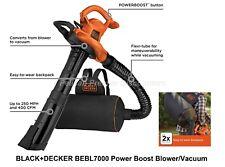 Black & Decker Leaf Blower, Vacuum and Mulcher 3 in 1 Vacpack Backpack NEW
