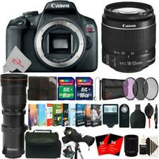 Canon EOS Rebel T7 24.1MP DSLR Camera + 18-55mm & 420-800mm Lens Accessory Kit