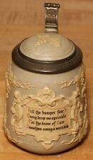 English Drinking Verse by Mettlach 1/2 liter German beer stein antique # 1370