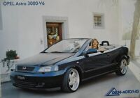"""Prospekt Opel Astra 3000 V6 Cabriolet """"Sixpack"""" Bertone Edition  -  Rarität"""