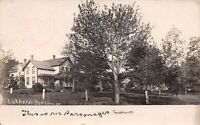 Augusta WI This is Our Lutheran Church Parsonage House~RPPC c1908