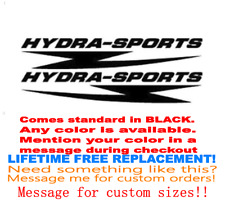 "PAIR OF 5""X28"" HYDRA-SPORT BOAT HULL DECALS. MARINE GRADE. YOUR COLOR CHOICE 159"