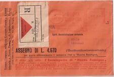 ITALIA 1949 AFFRANCATURA ROSSA NUOVA RASSEGNA SU RACCOMANDATA CON ASSEGNO