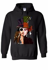 Mad Hatter Johnny Depp Jack Sparrow Men Women Unisex Top Hoodie Sweatshirt 162E