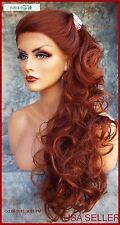 Lace Front Wig COLOR RED T33.130  LONG FLOWING SOFT WAVES SEXY  US SELLER * 165