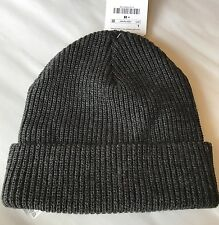 New Zara Textured Cable Knit Kid Boy Beanie Gray Bonnet Toque Grey Large