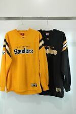 2 NFL Pittsburgh Steelers Warm-Up Pullover sewn Black and Yellow Man's Size L