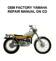 YAMAHA TY250A OEM FACTORY OWNER'S SERVICE MANUAL DIGITIZED ON CD