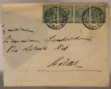POSTA MILITARE 18^ DIVISIONE 13.4.1917 BUSTA CON QUARTINA DA 5 CENTESIMI #XP265I