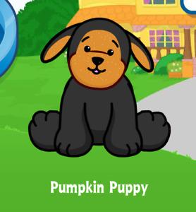 Webkinz Pumpkin Puppy Virtual Adoption Code Only *Messaged* Webkinz Pumpkin Dog!