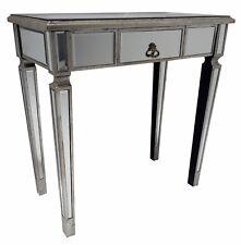 Mirrored Console Desk Bedroom Table Venetian Glass 1 Drawer Retro Storage