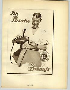 1926 Ludwig Hohlwein Munchen Die Flasche Canteen Graf Lerusatorff Liquor Poster