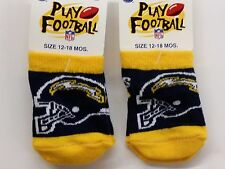 NFL Infant Baby Socks (Size 12-18 Months) San Diego Chargers #1-2 (2 Pair)