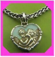 BRIGHTON DEVOTION DIVINE LOVE Heart Angel Blue Silver BRACELET NWtag