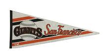 Vintage San Francisco Giants Full Size MLB Baseball Orange, Black, White Pennant