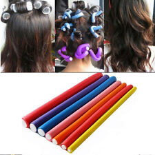 10Pcs Soft Foam Sponge Hair Roller Plastic Hair Curlers Curling Flexi Rods Bendy