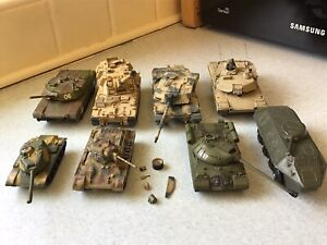 COLLECTION 8 TANKS UNIMAX/ERTL 6 UNMARKED 4 DIECAST 4 PLASTIC FORCES OF VALOR?