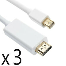 3 Pack 15ft Mini DisplayPort DP to HDMI Converter Adapter Cable fits Thunderbolt