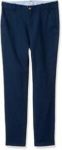 Gymboree Girl's Navy School Uniform Woven Chino Pants Regular Plus Slim NWT
