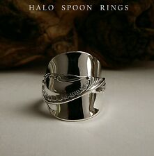CHUNKY PRETTY SWEDISH SOLID SILVER SPOON RING 1951 THE PERFECT GIFT IDEA